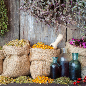 Herbs in hessian bags_ENM Marketing