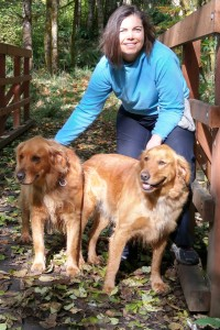 Dr. Michele and her dogs